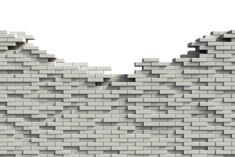 砖未完成墙壁 皇族释放例证