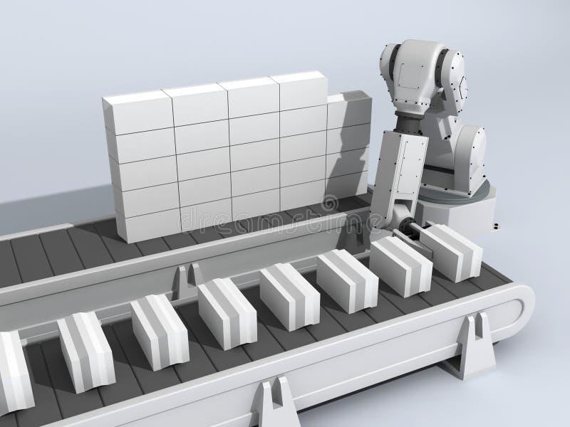 砖机器人墙壁 向量例证