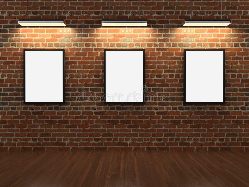 砖构成墙壁 向量例证