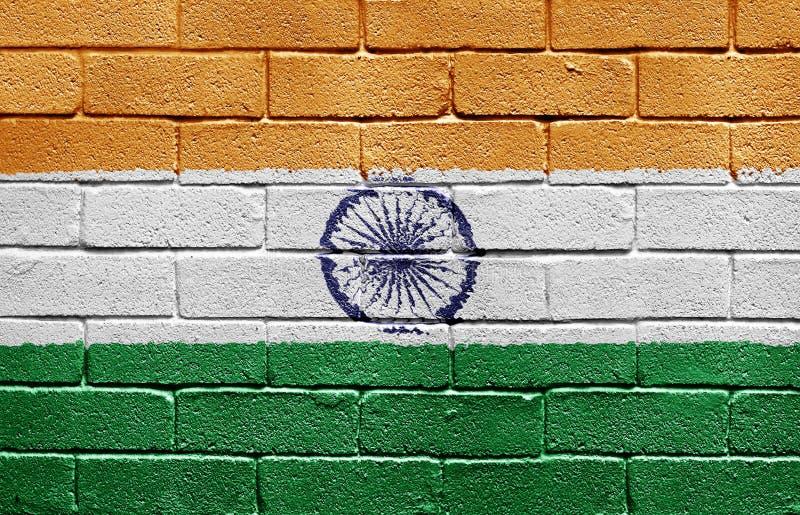 砖标志印度墙壁 图库摄影
