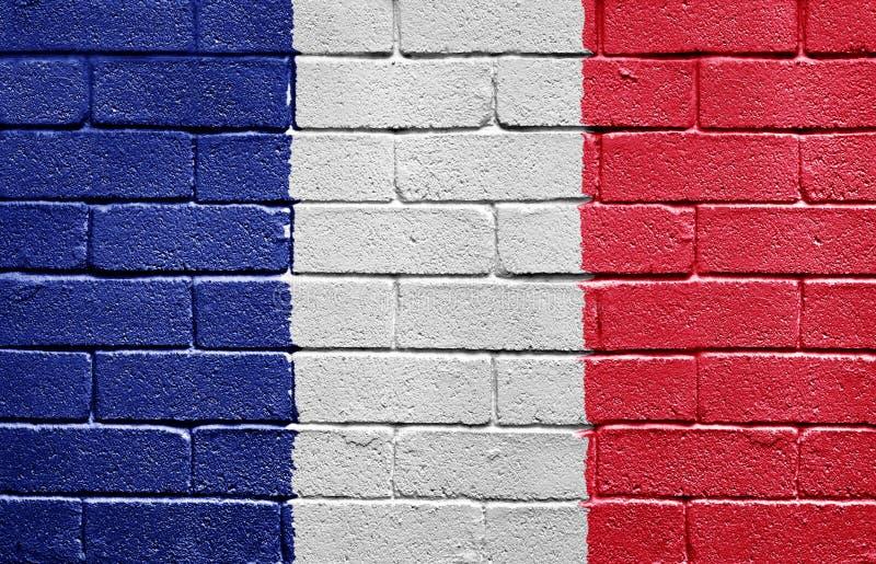 砖标志法国墙壁 免版税库存图片