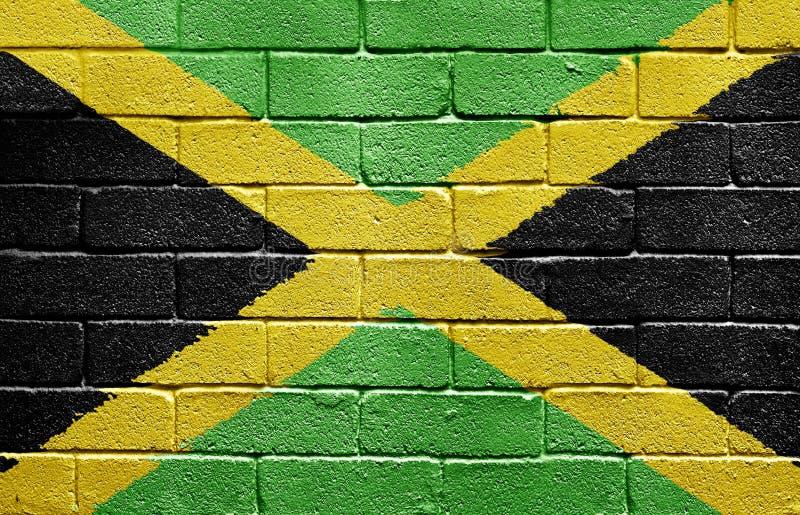 砖标志牙买加墙壁 免版税图库摄影