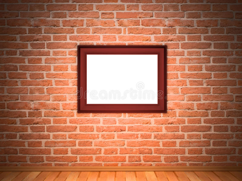 砖框架墙壁 库存图片