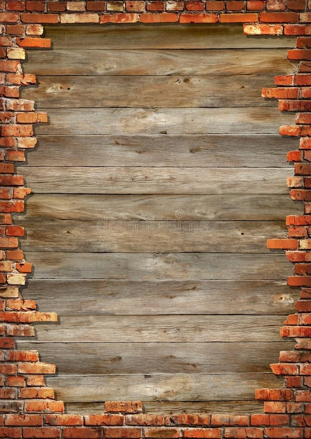 砖框架脏的墙壁 免版税图库摄影