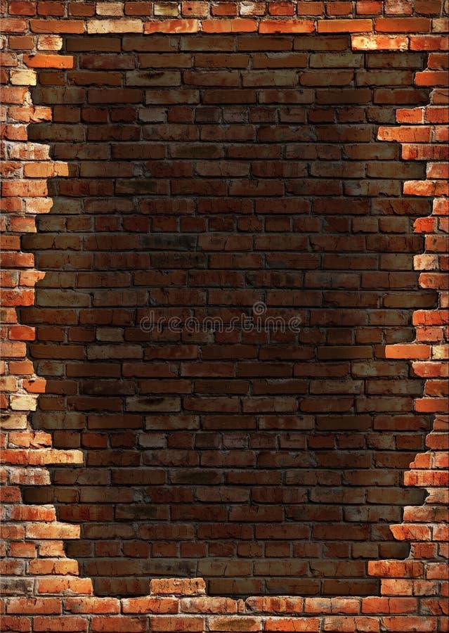 砖框架脏的墙壁 图库摄影