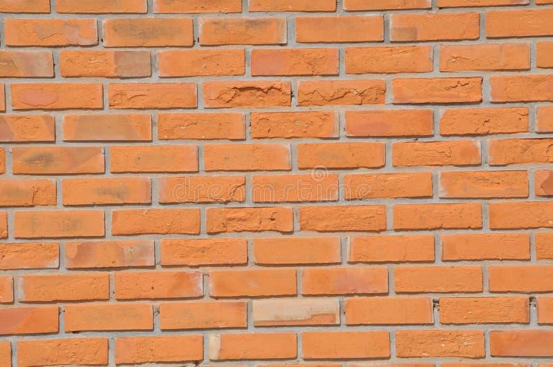 砖棕色颜色墙壁 免版税库存图片