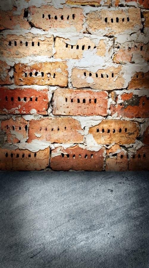 砖楼层墙壁 库存图片