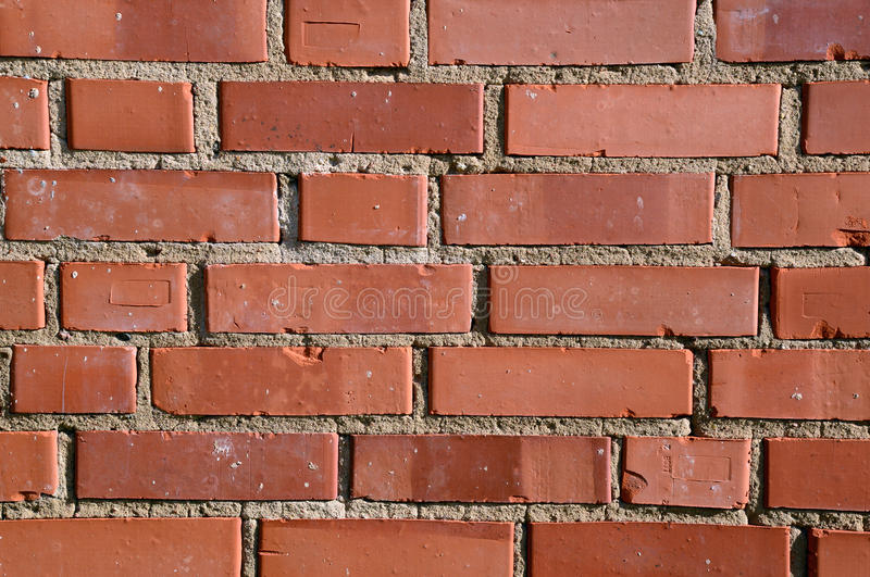 砖橙色纹理墙壁 库存照片