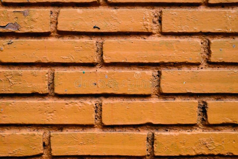砖橙色纹理材料 免版税库存图片