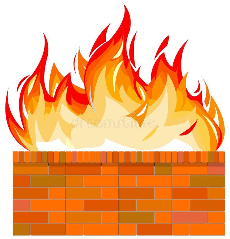 砖火墙壁 皇族释放例证