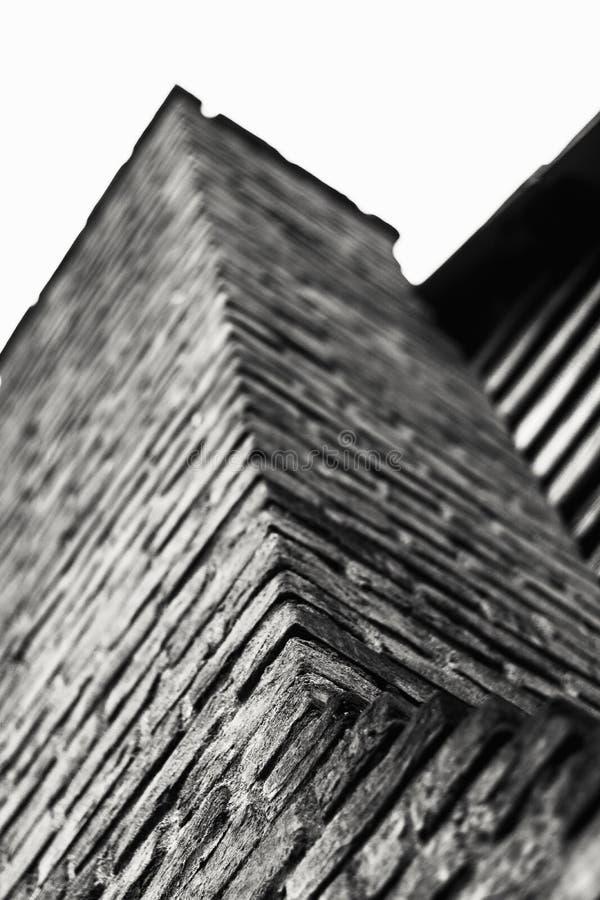 砖烟囱向上看法  图库摄影