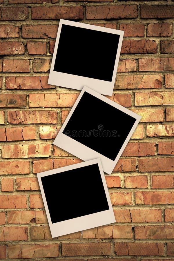 砖照片墙壁 免版税库存照片