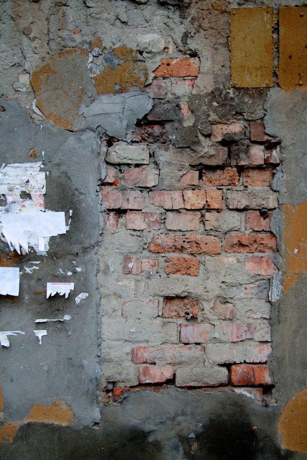 砖片段老墙壁 免版税库存图片