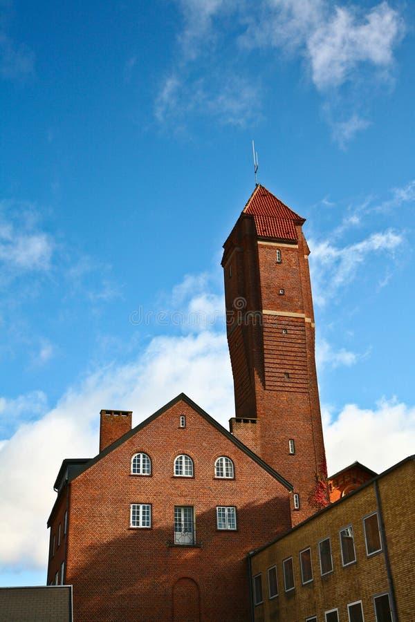 砖瓦房丹麦 免版税库存图片