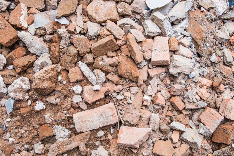 砖瓦砾废墟  库存图片