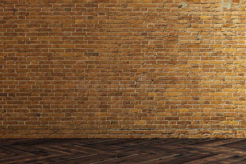 砖空的墙壁 向量例证