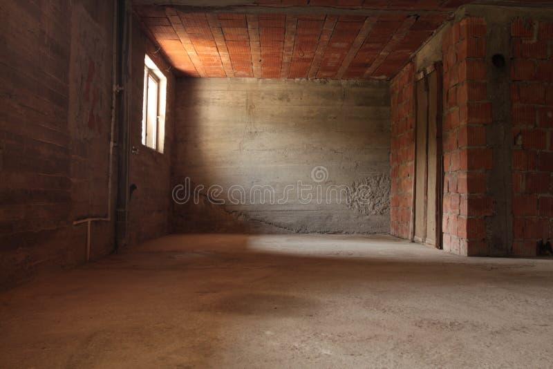 砖空的空间墙壁 库存照片
