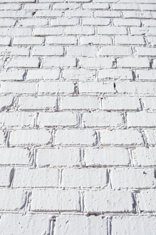 砖纹理墙壁白色 免版税图库摄影