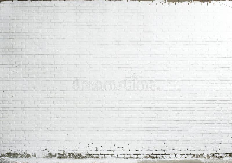 砖纹理墙壁白色 库存照片