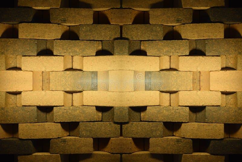 砖纹理样式设计 向量例证