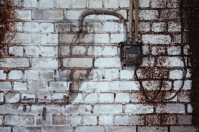 砖老墙壁 免版税库存照片