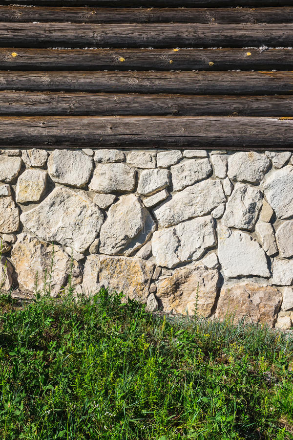 砖老石墙 免版税图库摄影