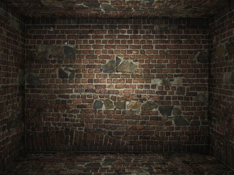 砖脏的内部空间 库存图片