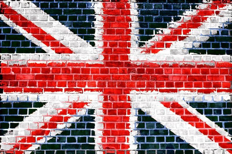 砖英国墙壁 免版税库存照片