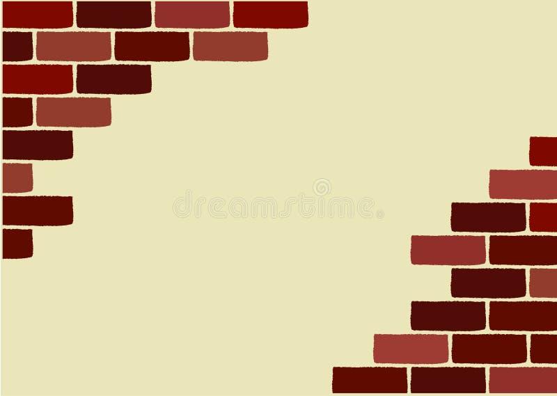 砖被中断的向量墙壁 皇族释放例证