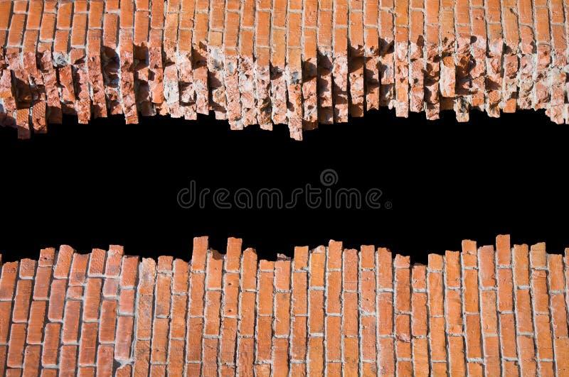 砖被中断的设计模式模板墙壁 免版税库存图片