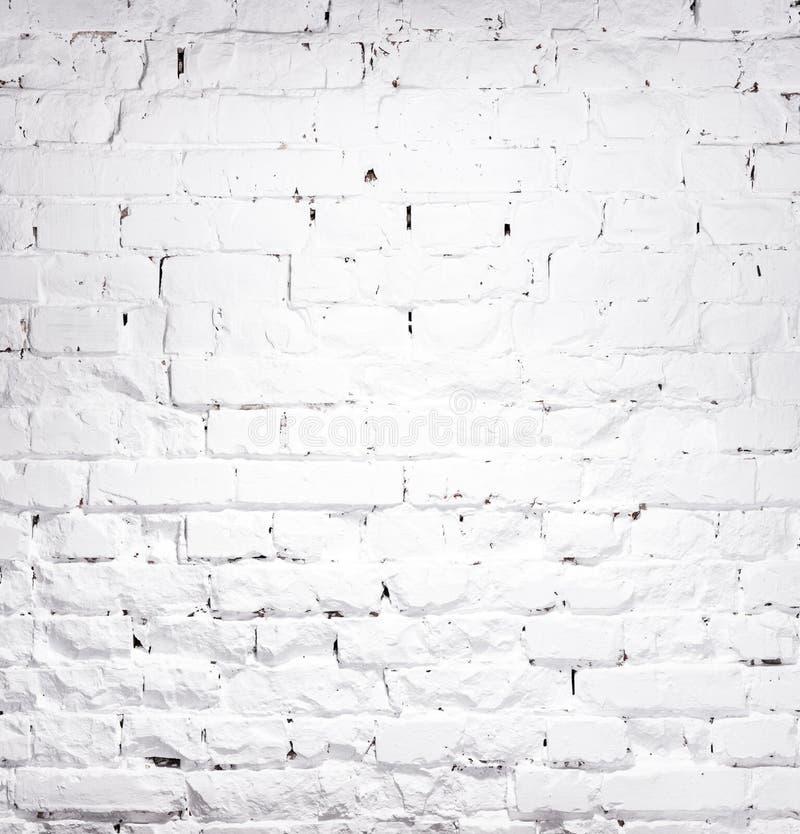 砖被粉刷的墙壁纹理  库存图片