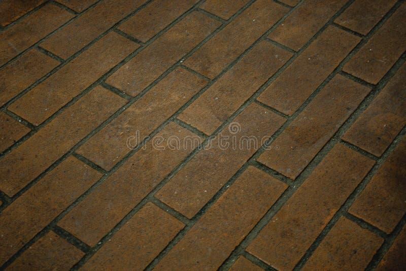 砖被铺的地板 免版税库存图片