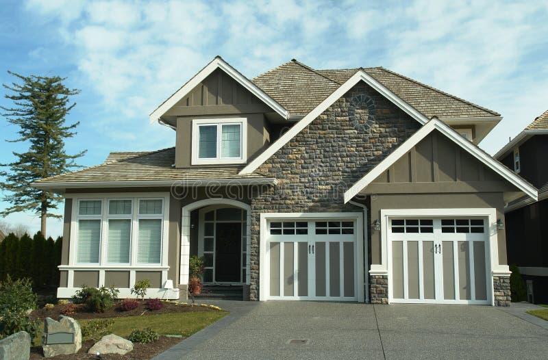 砖设计员BC家房子 免版税库存照片