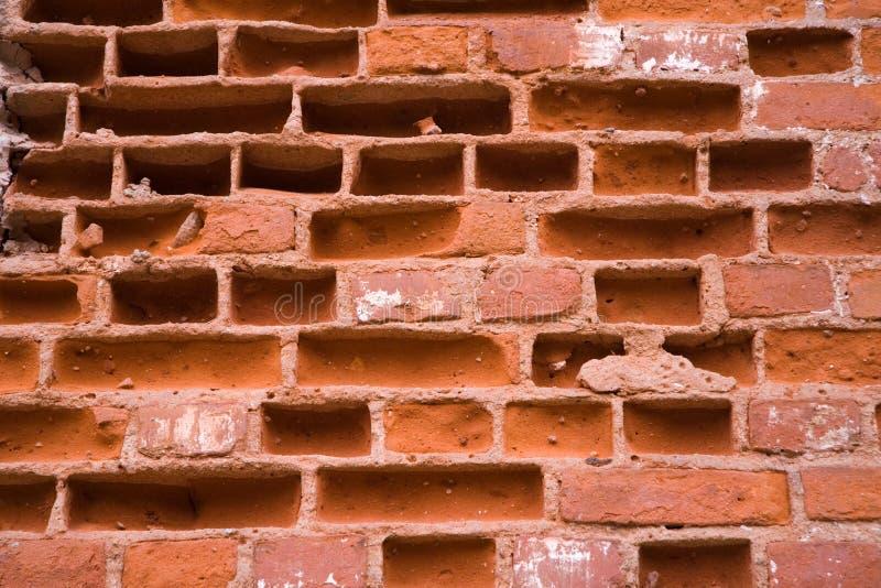 砖详细资料红色墙壁 免版税图库摄影