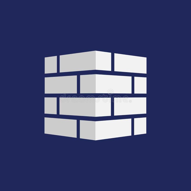 砖象 砖商标 查出在背景 也corel凹道例证向量 向量例证