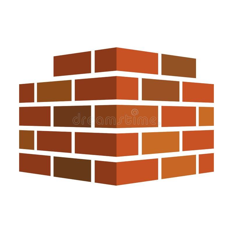 砖象 砖商标 背景查出的白色 也corel凹道例证向量 向量例证