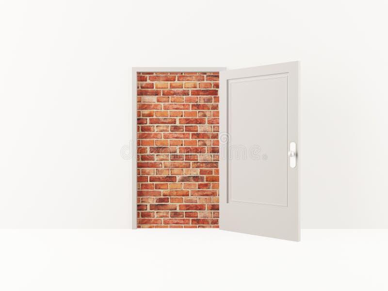 砖门墙壁 皇族释放例证