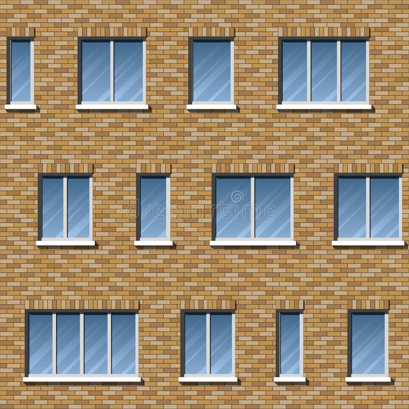 砖门面样式2颜色 库存例证