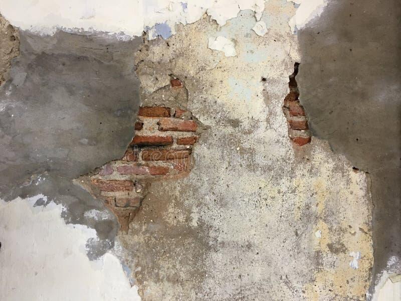 砖难看的东西墙壁 免版税图库摄影