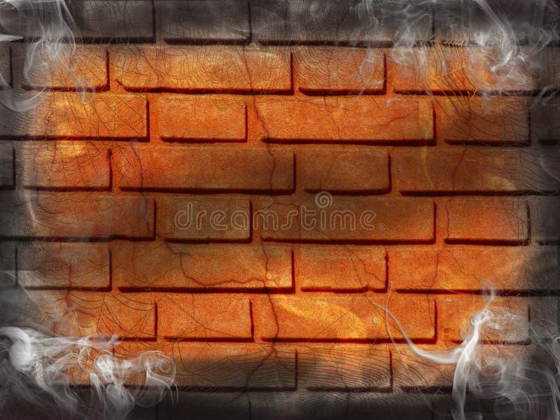 砖黑暗的烟墙壁 图库摄影