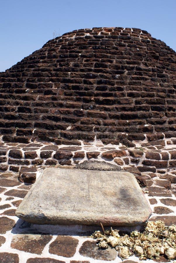砖stupa 免版税库存图片