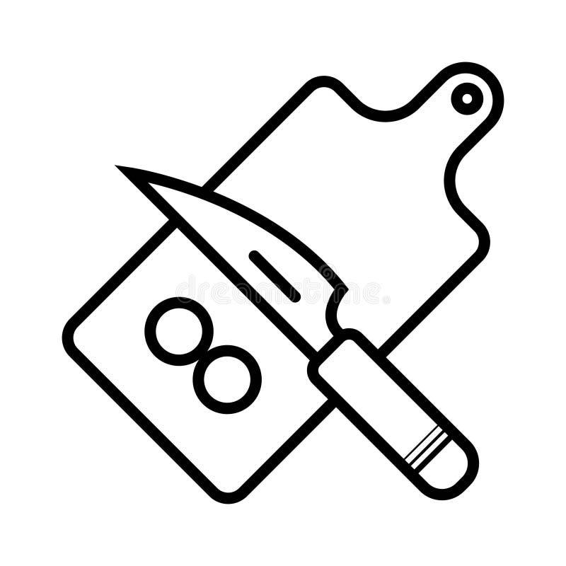 砧板和菜 库存例证