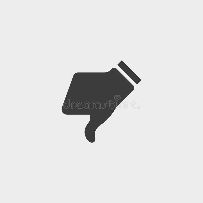 砰砰地走在一个平的设计的象下在黑颜色 向量例证EPS10 皇族释放例证