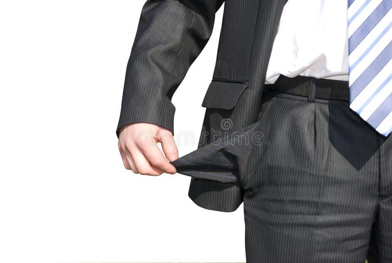 破产生意人 免版税库存图片