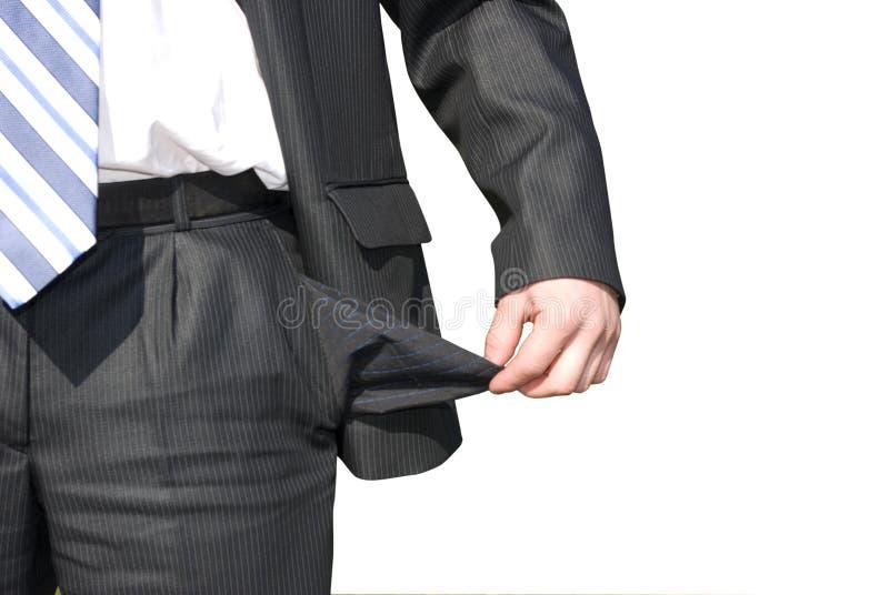破产生意人 免版税图库摄影
