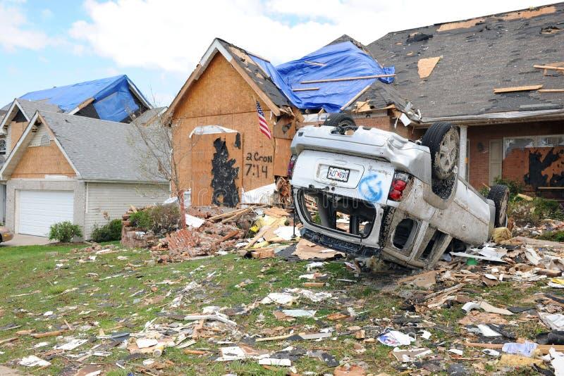 破坏命中路易斯圣徒龙卷风 库存照片