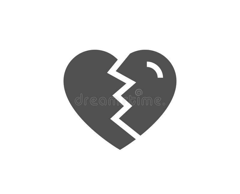 破坏爱简单的象 离婚标志 皇族释放例证