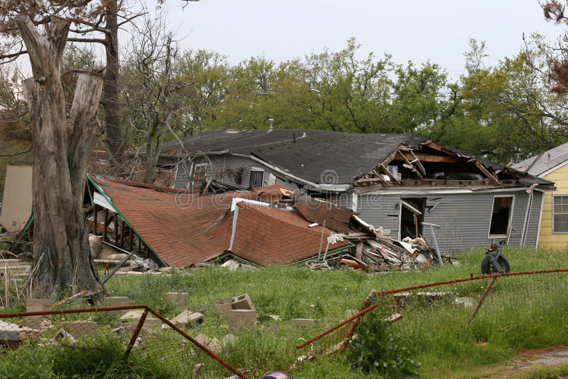 破坏飓风卡特里娜 库存图片