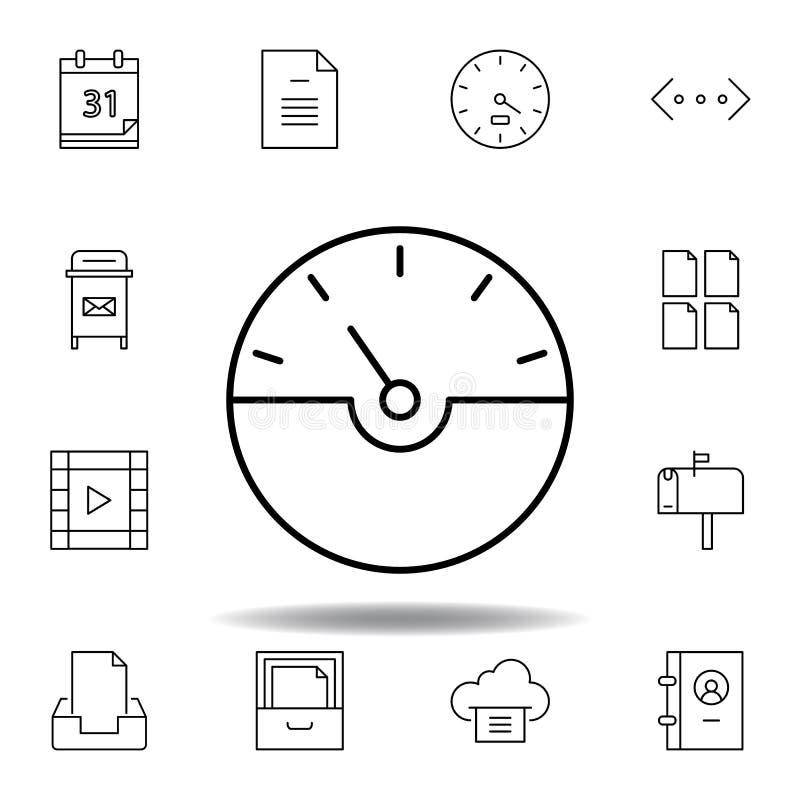 破折号测量仪速度概述象 详细的套unigrid多媒体例证象 能为网,商标,流动应用程序,UI使用, 向量例证