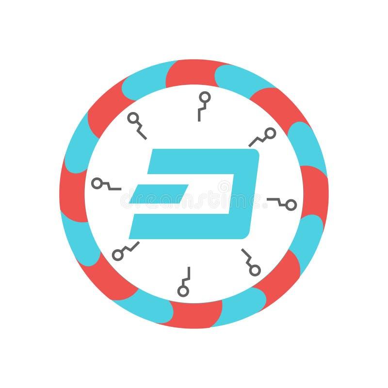 破折号象在白色背景和标志隔绝的传染媒介标志,破折号商标概念 库存例证